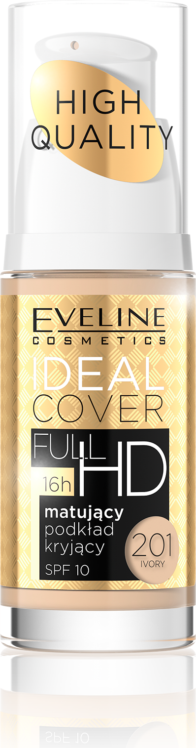 Eveline Podkład Ideal Cover Full HD matująco-kryjący nr 201 Ivory 30ml 1