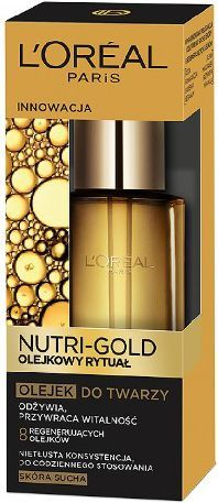 L'Oreal Paris Loreal Dermo Nutri Gold Olejkowy Rytuał Olejek odżywczy do twarzy 30ml - 0280768 1