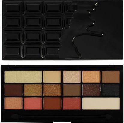 Makeup Revolution I Heart Make Up Palette Zestaw cieni do powiek Chocolate Vice (16 kolorów) 22g 1