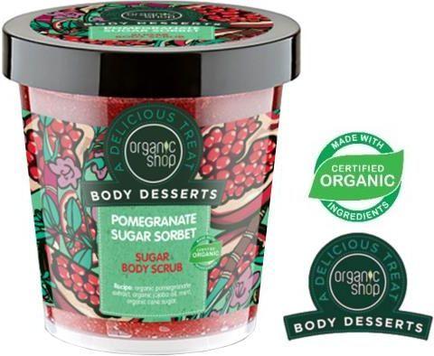 Organic Shop Body Desserts Peeling do ciała Cukrowy Pomegranate Sugar Sorbet 450 ml 1