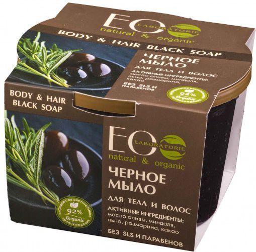 EO Laboratorie Czarne mydło do włosów i ciała 1