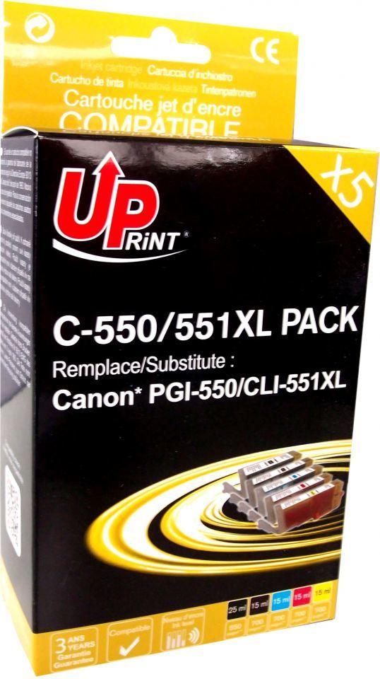 UPrint Tusz C-551XL-PACK / CLI551, 2x Black, 1x Cyan, 1x Magenta 1x, Yellow 1