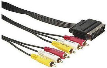 Kabel Scart - RCA (Cinch) x6 5m czarny 1