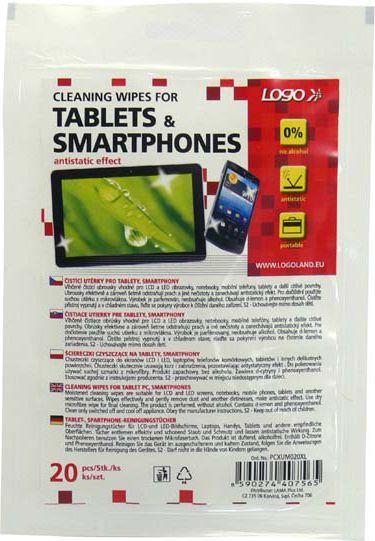 Logo ręczniki/chusteczki, na tablet, smartphone, opakowanie zamykane, 20 szt. 1