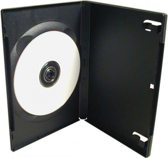 Box na 1 szt. DVD, czarny, 14mm 1