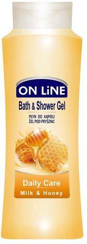 On Line Płyn do kąpieli i Żel pod prysznic 2 w 1 Daily Care mleko i miód750 ml 1