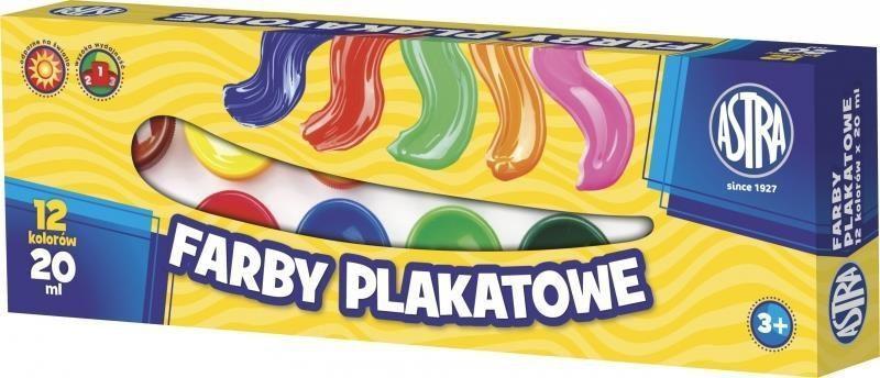 Astra Farby plakatowe 12 kolorów 20ml (83114901) 1