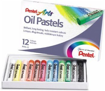 Pentel Pastele Olejne 12 kolorów PHN-12 (PHN-12----1S) 1