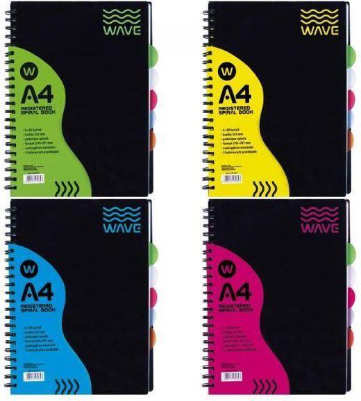 Astra Kołozeszyt wave A4, 120K. okładka PP - zakupy dla firm - (104006004) 1