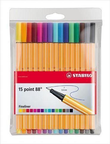 Stabilo Cienkopisy point 15 kolorów 1