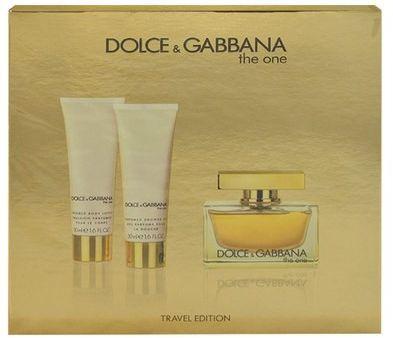 Dolce & Gabbana The One Zestaw dla kobiet EDP 75ml + Balsam do ciała 50ml + Żel pod prysznic 50ml 1