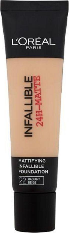 L'Oreal Paris Infallible 24-Matte Mattifying Foundation 22 Radiant Beige 35ml 1