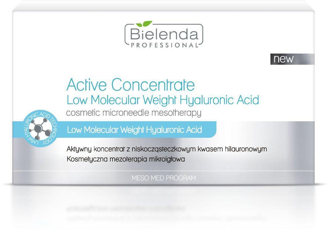 Bielenda Professional Active Concentrate Low Molecular Weight Hyaluronic Acid - aktywny koncentrat z niskocząsteczkowym kwasem hialuronowym 10x3ml 1