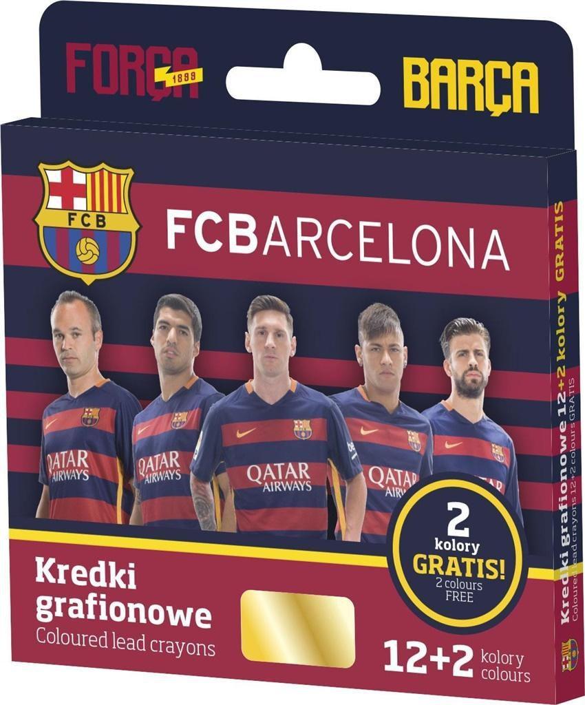 Astra KREDKI GRAFIONOWE 12 KOLORÓW - FC BARCELONA - zakupy dla firm - 316116002 1