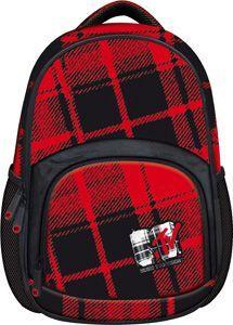 St. Majewski Plecak szkolny MTV Plaid BP-23 czarno-czerwony (270541) 1