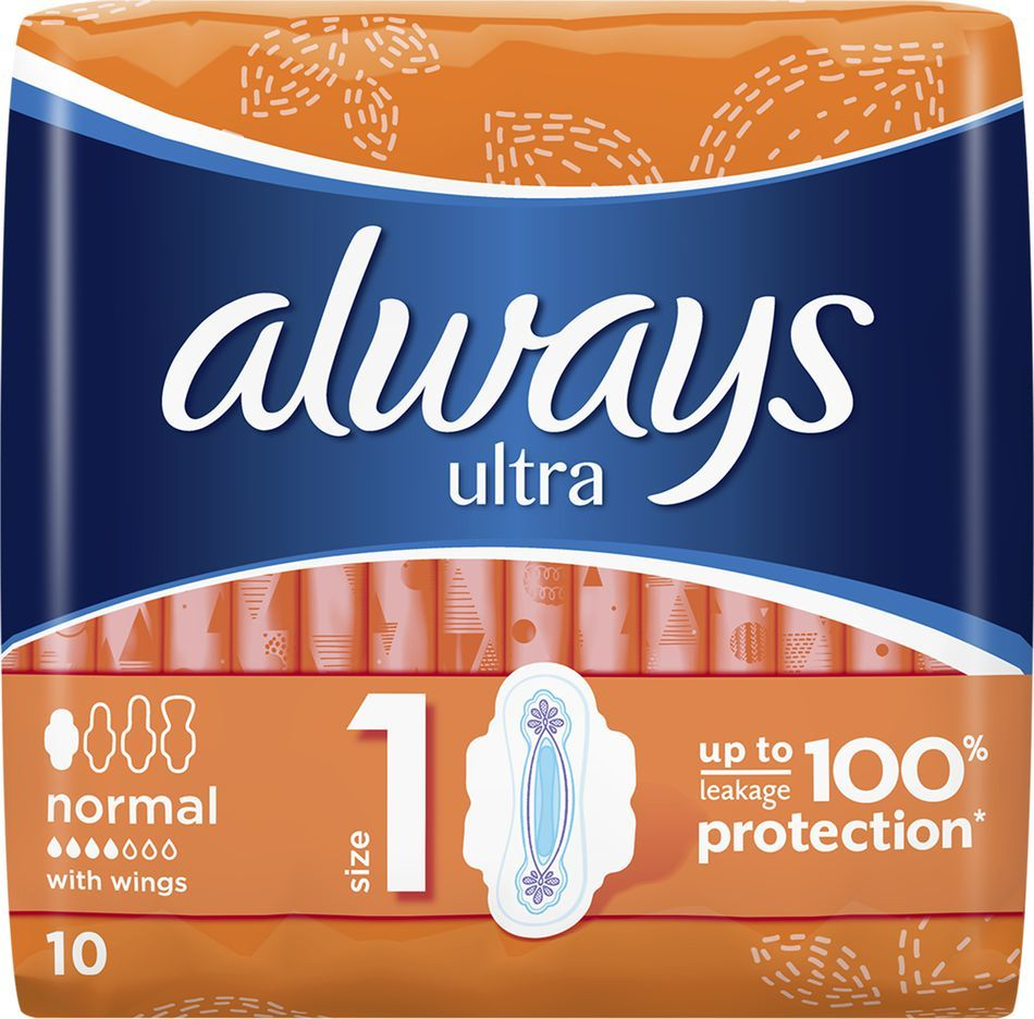 Always Ultra Normal Plus Podpaski Higieniczne 10 szt. 1
