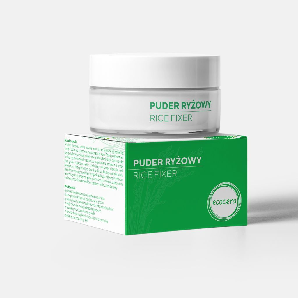Ecocera  Puder Ryżowy Fixer 15g 1