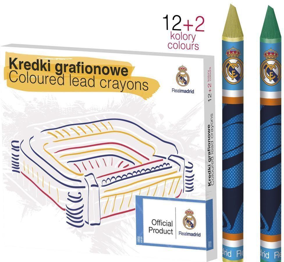 Astra KREDKI GRAFIONOWE 12 KOLORÓW - REAL MADRYT - zakupy dla firm - 316116003 1