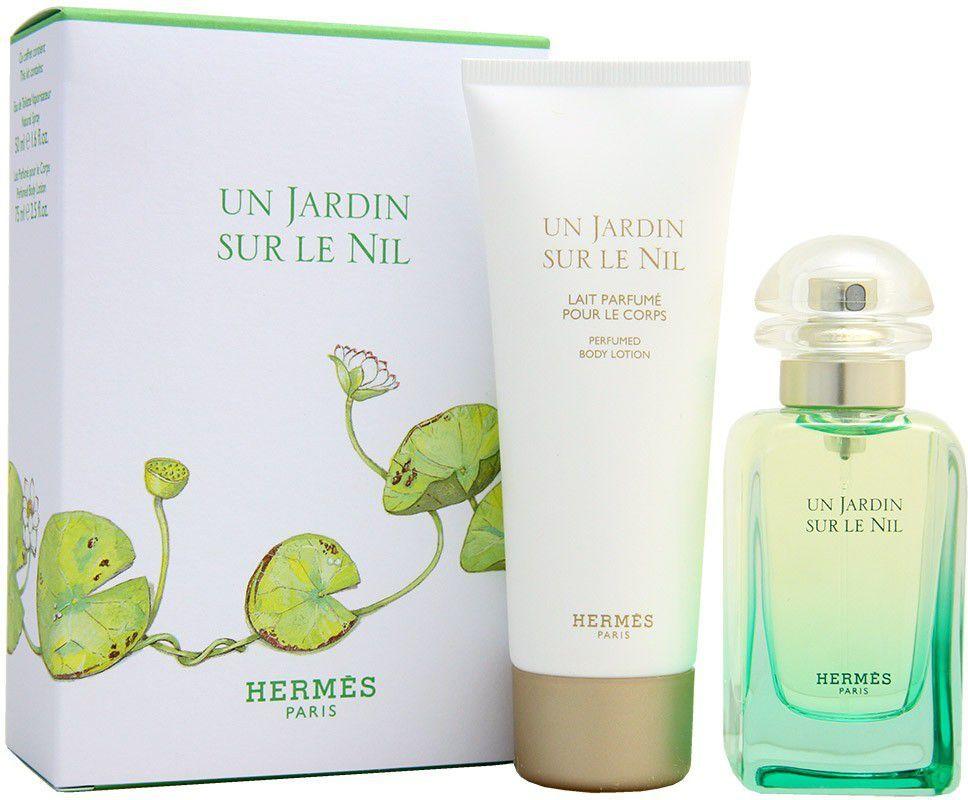 HERMES Un Jardin Sur Le Nil Zestaw dla kobiet EDT 50ml + 75ml Balsam 1