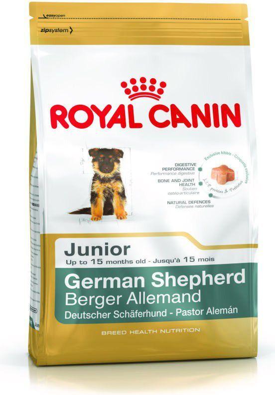 Royal Canin German Shepherd Junior karma sucha dla szczeniąt do 15 miesiąca, rasy owczarek niemiecki 12 kg 1