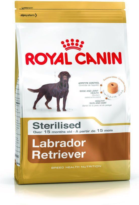 Royal Canin Labrador Retriever Sterilised Adult karma sucha dla psów dorosłych, rasy labrador retriever, sterylizowanych 12kg 1
