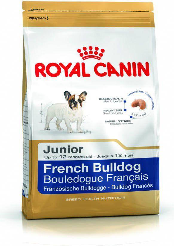 Royal Canin French Bulldog Junior karma sucha dla szczeniąt do 12 miesiąca, rasy bulldog francuski 1 kg 1