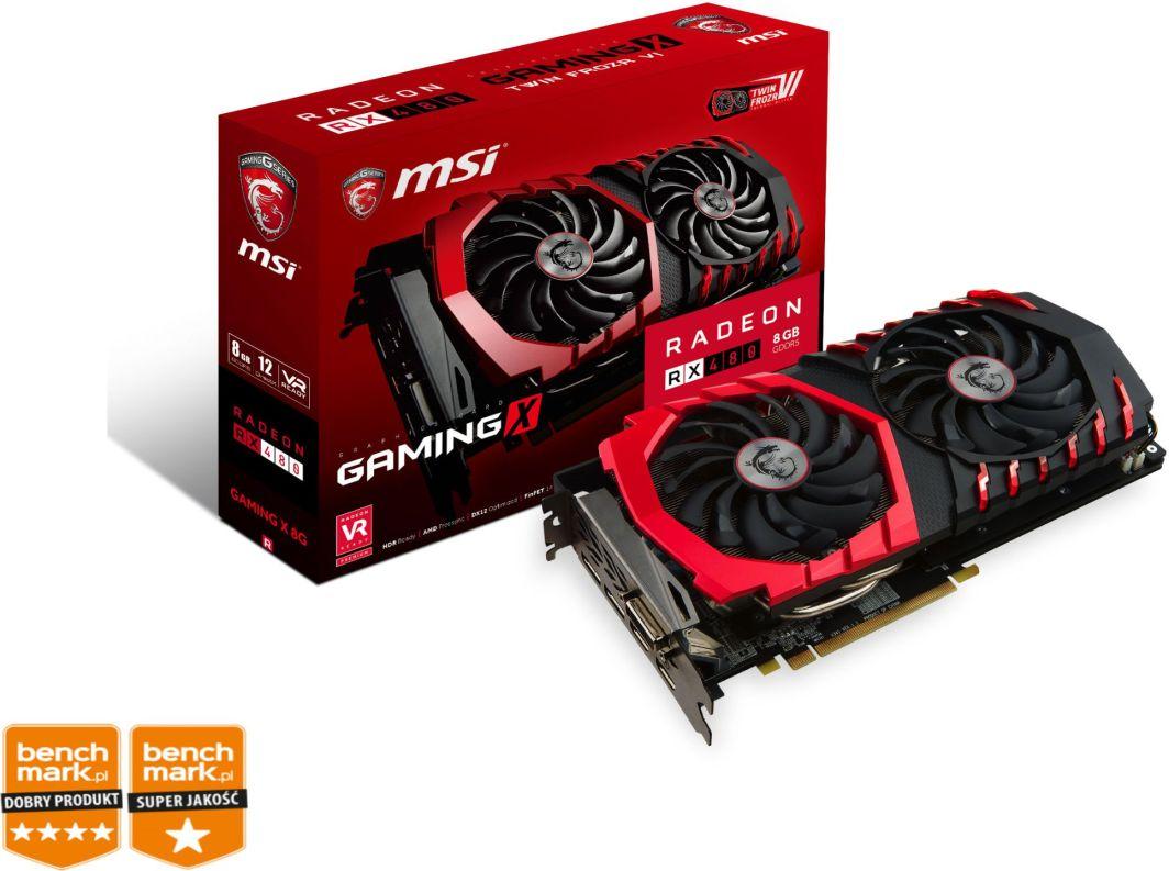 Karta graficzna MSI Radeon RX 480 GAMING X 8GB GDDR5 (256 Bit) 2xHDMI, 2xDP, DVI, BOX 1