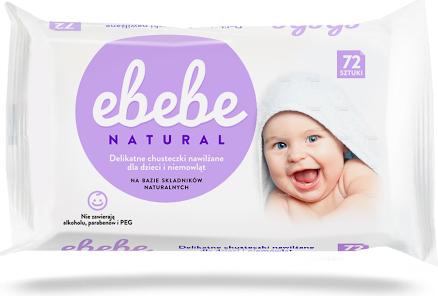 Happy Project EBEBE Chusteczki nawilżające dla niemowląt 72szt. 1