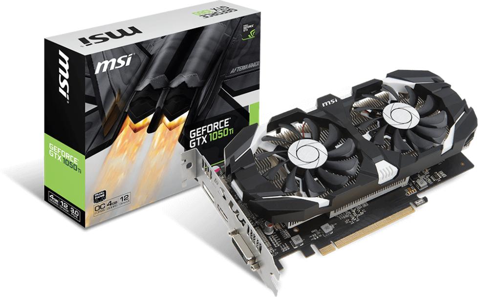 Msi Geforce Gtx 1050 Ti 4gt Oc 4gb Gddr5 128 Bit Hdmi Dvi D Dp