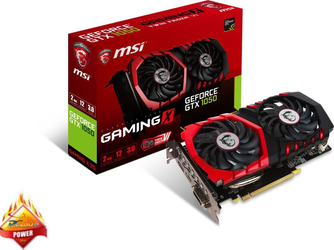 Karta graficzna MSI GeForce GTX 1050 Gaming X 2GB GDDR5 (GTX 1050 GAMING X 2G) 1