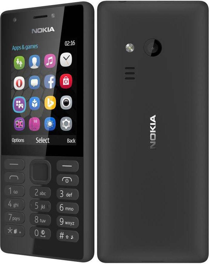Telefon komórkowy Nokia 216 Czarna (DualSIM) 1