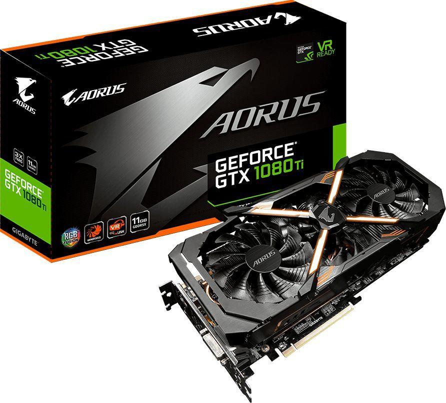 Karta graficzna Gigabyte GeForce GTX 1080 Ti AORUS 11GB GDDR5X (352 bit), DVI-D, 3xHDMI, 3xDP, BOX (GV-N108TAORUS-11GD) 1