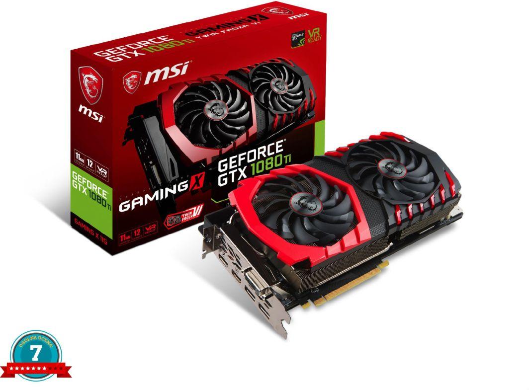 Karta graficzna MSI GeForce GTX 1080 Ti GAMING X 11GB GDDR5X (352 bit), DL-DVI-D, 2x HDMI, 2x DP, BOX (GTX 1080 Ti GAMING X 11G) 1
