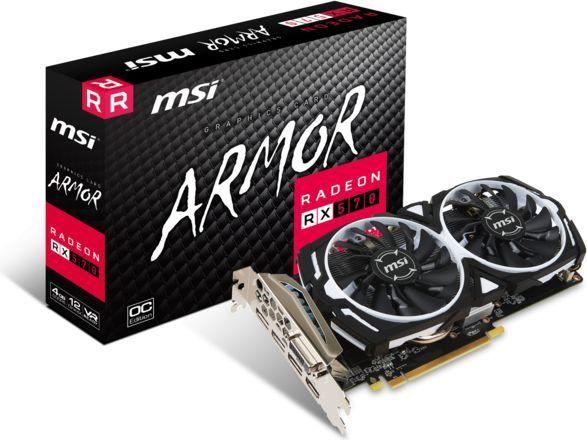 Karta graficzna MSI Radeon RX 570 Armor OC 4GB GDDR5 (RX 570 ARMOR 4G OC) 1