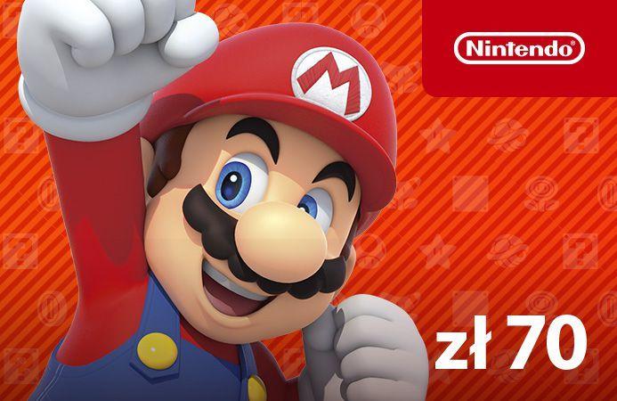 Nintendo eShop kod doładowujący 70 zł 1