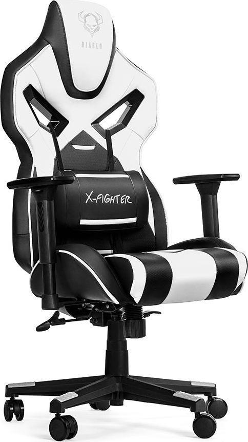Fotel Diablo Chairs X-Fighter Czarno-biały 1