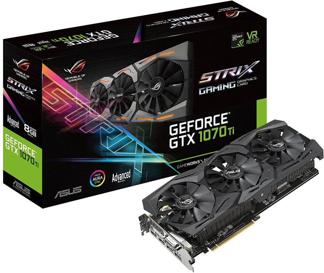 Karta graficzna Asus GeForce GTX 1070 Ti Rog Strix Advanced 8GB GDDR5 (256 bit) DVI-D, 2xHDMI, 2xDP, BOX (ROG-STRIX-GTX1070TI-A8G-GAMING) 1