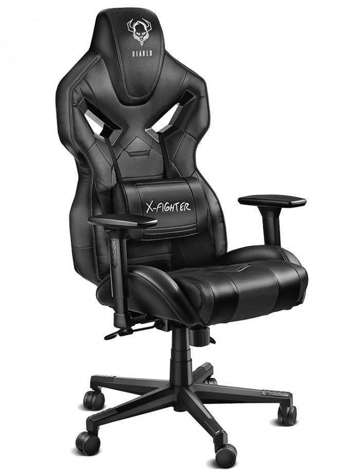 Fotel Diablo Chairs X-Fighter Czarny 1