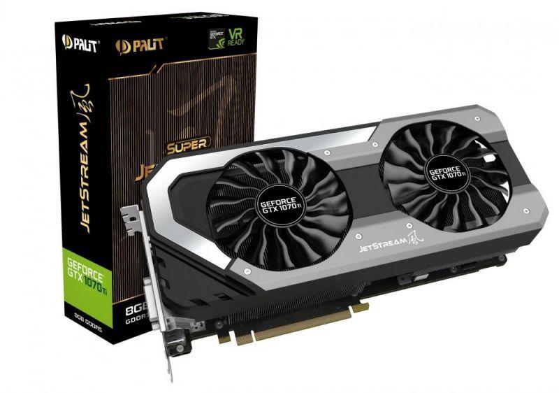 Karta graficzna Palit GeForce GTX 1070 Ti Super JetStream 8GB GDDR5 (256 bit) DVI-D, HDMI, 3xDP, BOX (NE5107TP15P2-1041J) 1
