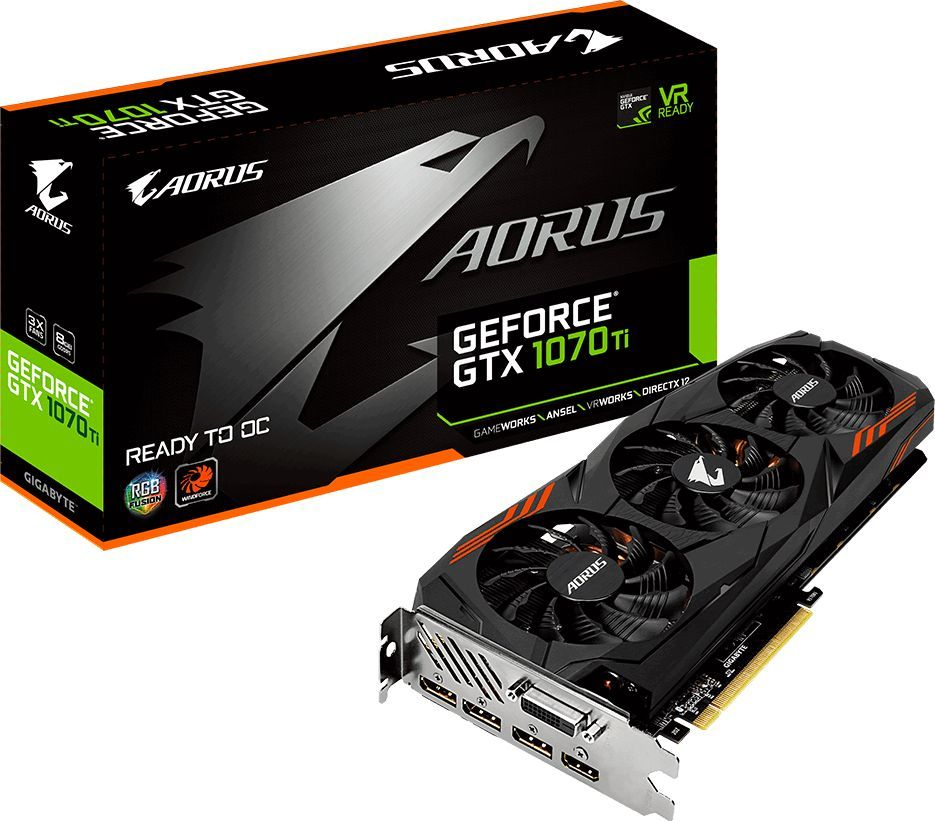 Karta graficzna Gigabyte GeForce GTX 1070 Ti AORUS 8GB GDDR5 (256 bit) DVI-D, HDMI, 3xDP, BOX (GV-N107TAORUS-8GD) 1