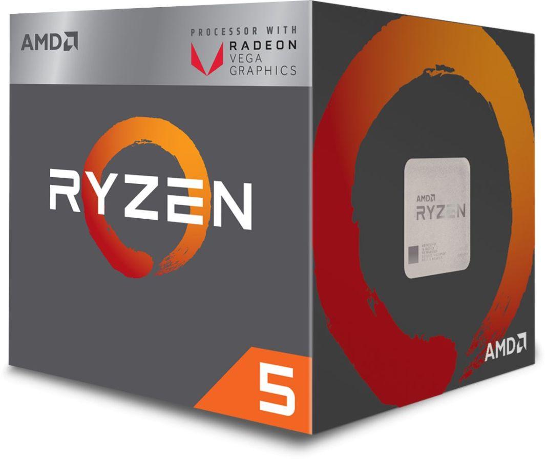 Procesor AMD Ryzen 5 2400G, 3.6GHz, 4 MB, BOX (YD2400C5FBBOX) 1