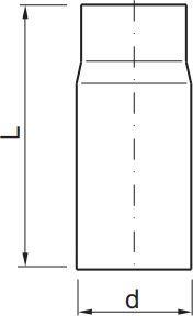 WADEX  Rura do kotła na paliwa stałe 1000mm (10180000) 1