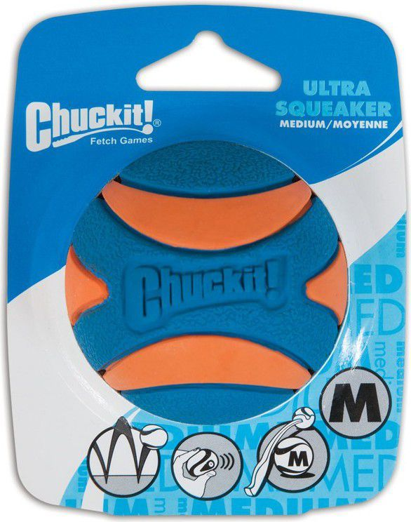 Chuckit! ULTRA SQUEAKER BALL MEDIUM (52068) 1