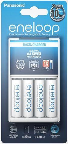 Ładowarka Panasonic Eneloop BQ-CC51E + 4 szt. R6/AA 1900mAh 1