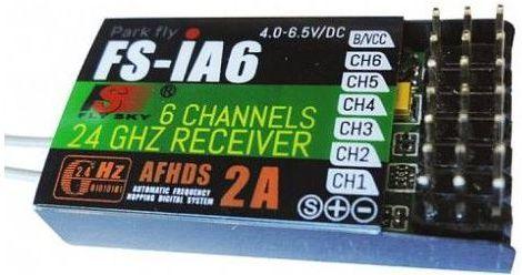 FlySky Odbiornik FS-IA6 6CH 2.4GHz (FS-IA6) 1