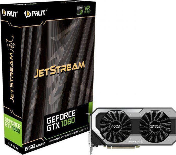 Karta graficzna Palit GeForce GTX 1060 JetStream 6GB GDDR5 (192 Bit) DVI, HDMI, 3xDP, BOX (NE51060015J9J) 1