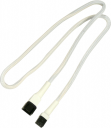 Nanoxia 3-Pin Molex przedłużacz 60 cm, biały (900400001)