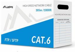 Lanberg przewód instalacyjny SFTP, cat6, DRUT,  305m (LCS6-10CU-0305-S)