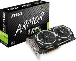 Karta graficzna MSI GeForce GTX 1060 Armor OC 6G GDDR5 (192 Bit) DVI, HDMI, 3xDP, BOX (V328-002R)