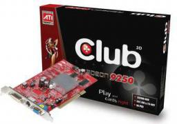 Karta graficzna Club 3D Radeon 9250 9250 128/64-BIT VGA+DVI+TV